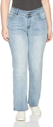c2053230452 Angels Jeans Women s Plus Size Curvy Bootcut Jean