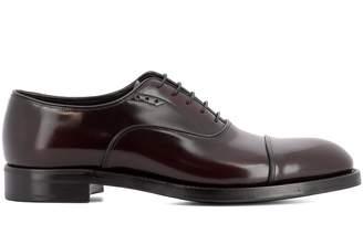 Prada Bordeaux Leather Lace-up Shoes