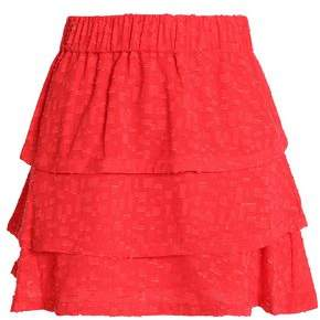 IRO Tiered Fil Coupé Mini Skirt
