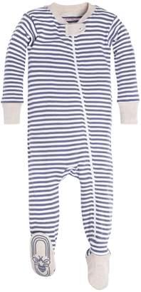 Burt's Bees Baby Baby Boys' Infant Organic Stripe Zip Front Non-Slip Footed Sleeper Pajamas