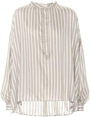 Isabel Marant Ilda striped silk-blend blouse