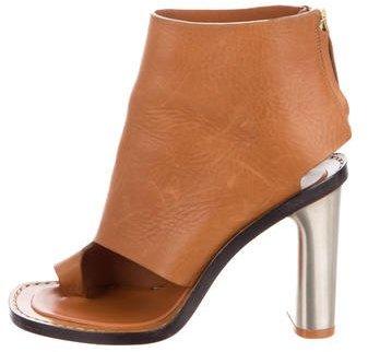 CelineCéline Peep-Toe Ankle Boots
