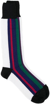 Sacai striped colour block socks $38.60 thestylecure.com