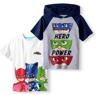 PJ Masks PJ Mask Boys' 'Hero Power' Hoodie T-Shirt & Character Pocket T-Shirt 2 Pack