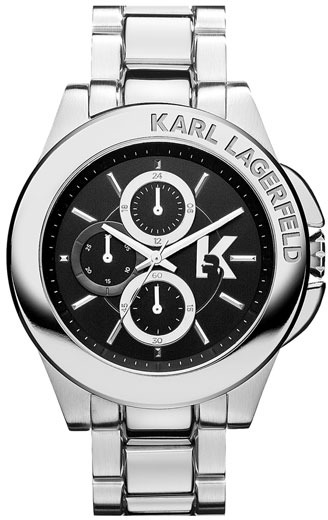 Karl Lagerfeld 'Energy' Chronograph Bracelet Watch, 44mm