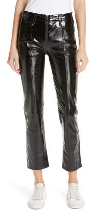 Frame Slick Straight Leg Leather Pants