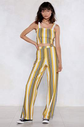 Nasty Gal Line Has Come Today Striped Crop Top and Pants Set