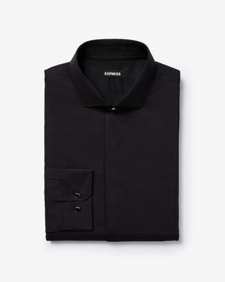 Express Extra Slim Textured Tuxedo Shirt