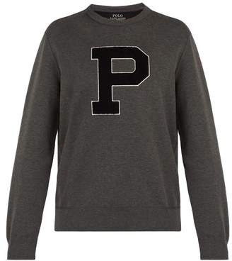 Polo Ralph Lauren Appliqued Sweatshirt - Mens - Dark Grey