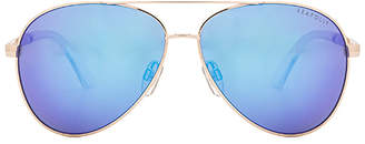 Seafolly Belle Mare Sunglasses in Metallic Silver. $88 thestylecure.com