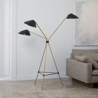 west elm Curvilinear Mid-Century Floor Lamp - Black
