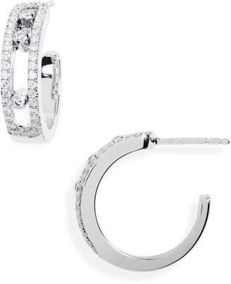 Möve Messika Diamond Hoop Earrings