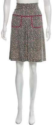 Diane von Furstenberg Silk Printed Knee-Length Skirt