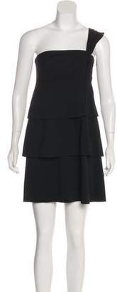 Robert Rodriguez One-Shoulder Mini Dress