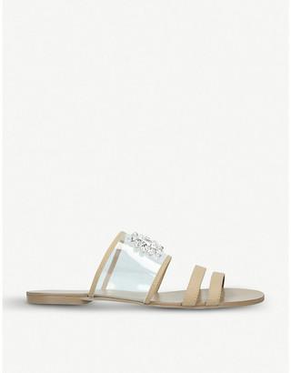 Kurt Geiger London Pia jewel-embellished vinyl sandals