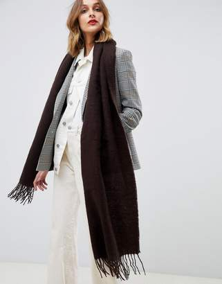 Asos DESIGN supersoft long woven scarf with tassels