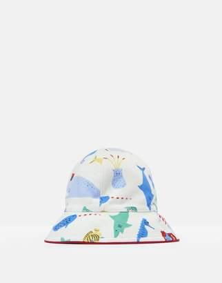 Joules Creme Sea Time 204708 Reversible Sun Hat Size 6M-12M