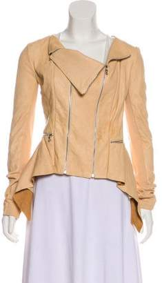 Willow Leather Zip-Up Jacket