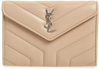Saint Laurent Small Loulou Matelasse Leather Wallet