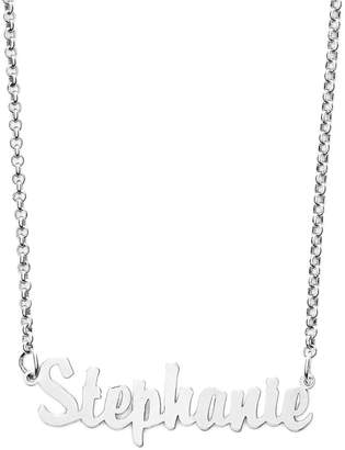 Argentovivo Personalized Script Name Necklace