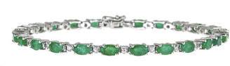JCPenney FINE JEWELRY LIMITED QUANTITIES! Genuine Emerald and Lab-Created White Sapphire Tennis Bracelet
