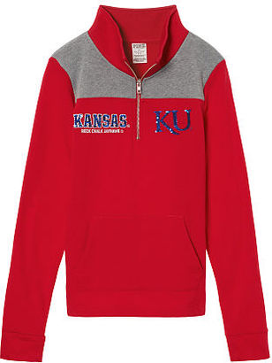 Victorias Secret University Of Kansas Perfect Quarter-Zip $29.99 thestylecure.com