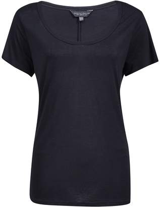 Dorothy Perkins Womens Black Scoop Neck T