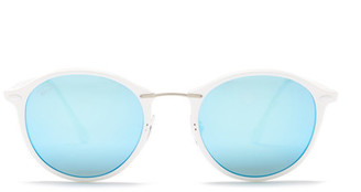 Ray-Ban Unisex Lightray Round Sunglasses $215 thestylecure.com