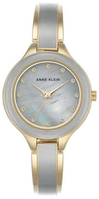 Anne Klein AK-2934GYGB Mother-of-Pearl Bracelet Watch