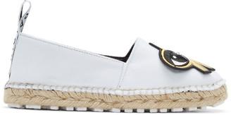 Kenzo White K-Patch Espadrilles $395 thestylecure.com
