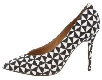 Isabel Marant Canvas Pointed-Toe Pumps