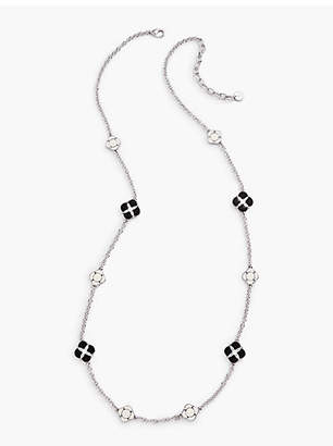 Talbots Geometric Accent Long Layer Necklace