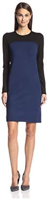 Society New York Women's Seamed Colorblock Dress