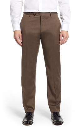 Zanella Parker Flat Front Stretch Twill Wool Trousers