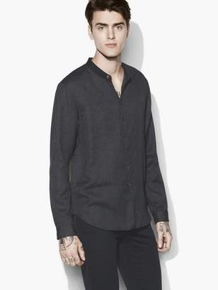 John Varvatos Band Collar Shirt
