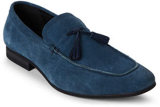 N. Zanzara Blue Severn Tasseled Suede Loafers