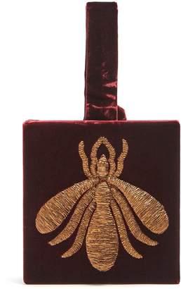 SANAYI 313 Ragno embroidered velvet box clutch