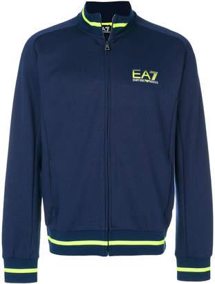 Emporio Armani Ea7 zipped logo sweatshirt