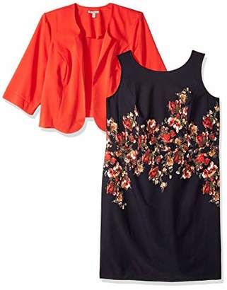 d9915e4c50311a Maya Brooke Women s Size Striped Jacket Dress Plus