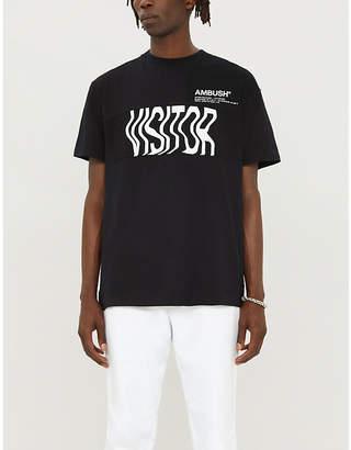 Ambush Cape-detail cotton-jersey T-shirt