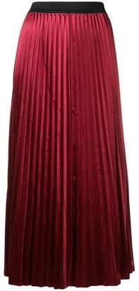 DKNY pleated maxi skirt