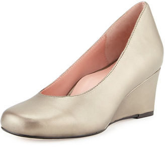Taryn Rose Taijo Napa Leather Wedge Pump $147 thestylecure.com