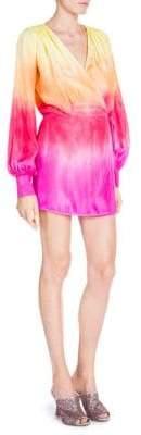 ATTICO Ombre Silk Wrap Dress