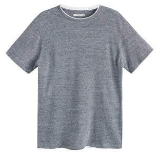 Mango Man MANGO MAN Striped cotton linen-blend t-shirt