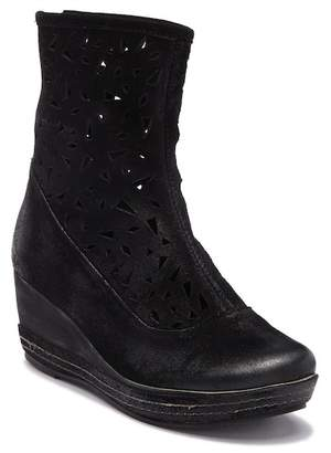 3aa75415bdba ... Antelope Lasercut Leather Wedge Boot