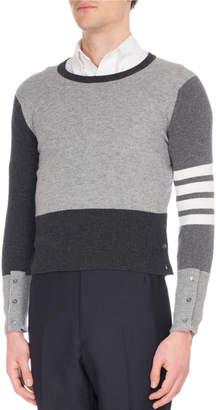 Thom Browne Mix-Knit Cashmere Sweater