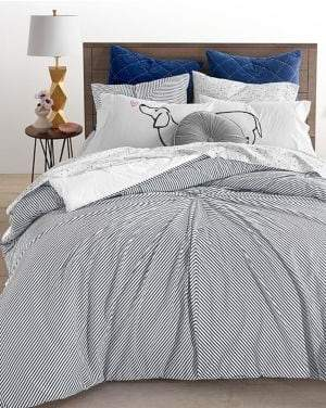 Martha Stewart Whim Knotted Stripe Three-Piece Bedding Set