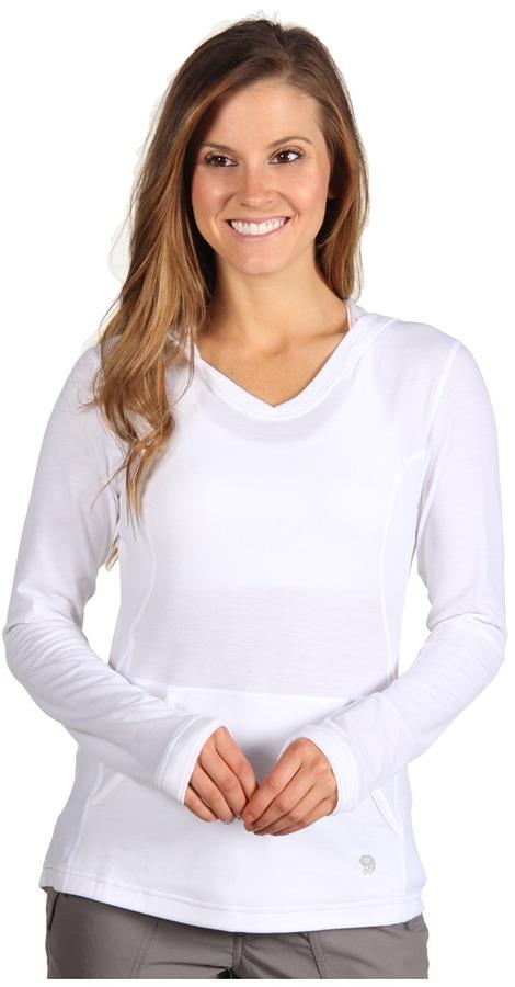 Mountain Hardwear Dryhiker L/S Hoodie (White) - Apparel