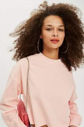 Topshop Petite Crop Sweatshirt