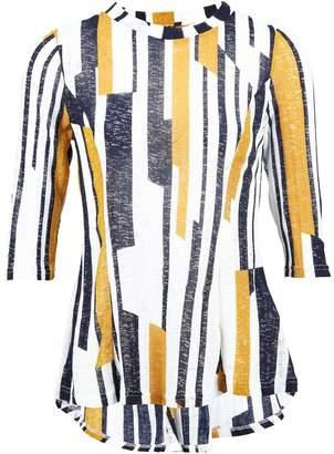 Dorothy Perkins Womens *Izabel London Mustard Striped Tunic Top